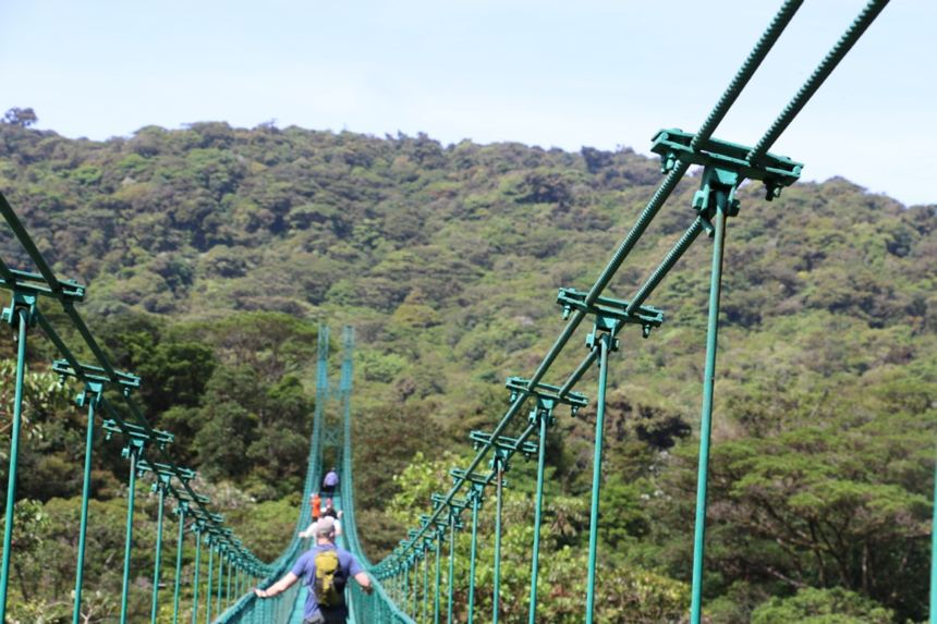 Monteverde bridges. No running, jumping or texting, please